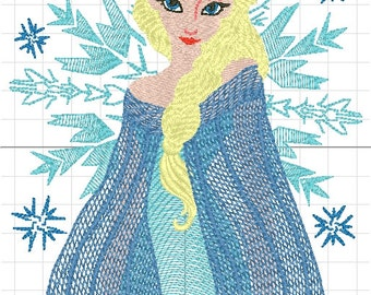 frozen machine embroidery