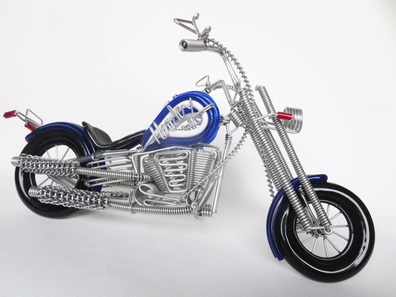 blue harley motorcycle blue harley davidson wire bending. Black Bedroom Furniture Sets. Home Design Ideas