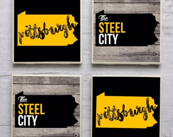 Pittsburgh Coasters, Pittsburgh Steelers Coasters, Pittsburgh Pirates Coasters, Coaster, Steel City,Pittsburgh Penguins Coasters, Pittsburgh