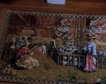 Vintage Asian Wall Tapestry