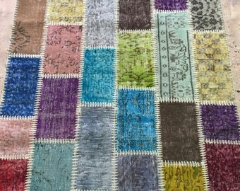 patchwork area rug 4X6 , 3X5