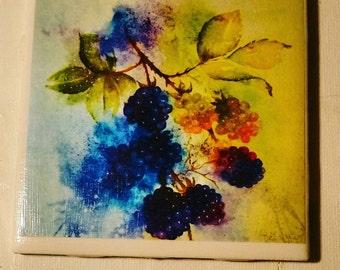 Blackberries Sunday After Church - Single Coaster