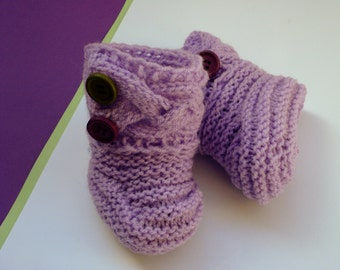 Hand knitted baby shoes