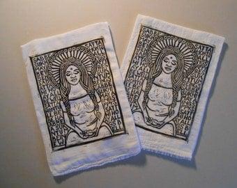 Sabbe Satta Hand Block Printed Tea Towels