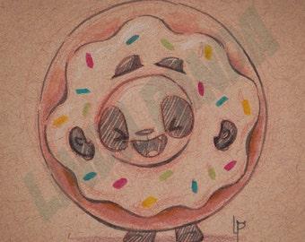 Donut Panda Art Print