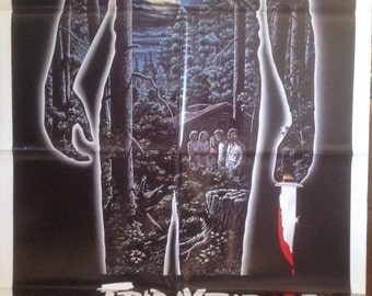 Friday The 13th Original Movie Poster Not A Reproduction Set of First 4 Movies