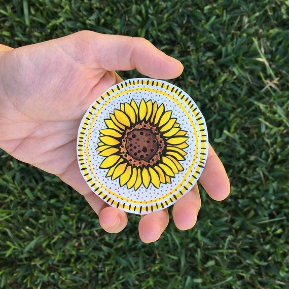 Sunflower temporary tattoo wild flower tattoo yellow flower for Sunflower temporary tattoo