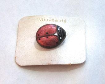 Ladybird 1920s-early 1930s Mint Art Deco Brooch Vintage Jewelery
