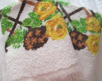 Floral Lattice Bath Towel Set