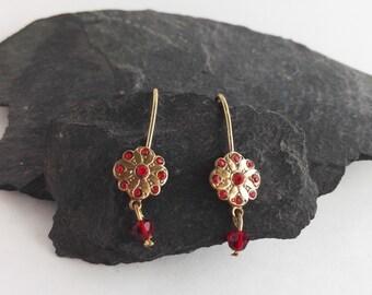 Simple Flower Earrings