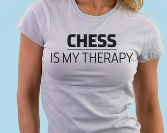Chess is my therapy T-shirt - 833