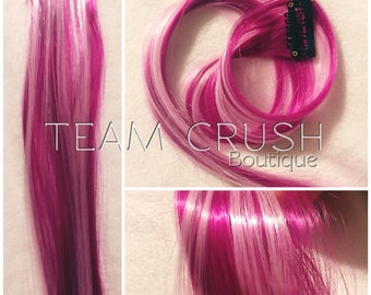 "CUPID CRUSH 18"" Clip In Colored Hair Extension Set - 4 PIECES!"