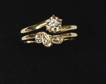 Wedding Ring Set, Engagement Ring, Gold Rings, Wedding Band, Bands, Wedding Ring, Gild Ring Set, Diamond Ring, Wedding Band Set, Gold Bands
