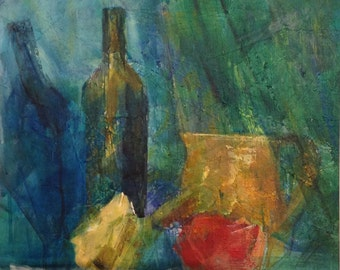 giclee reproduction of original acrylic painting of still life with fruit