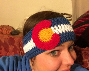 Colorado Flag inspired Headband