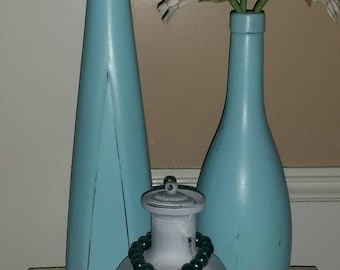 Distressed Bottle vase Set