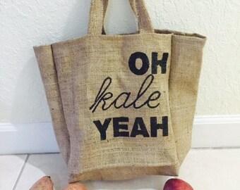 Burlap Bag/ Burlap Tote/ Burlap Market Bag/ Tote Bag