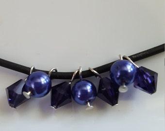 Purple cluster necklace