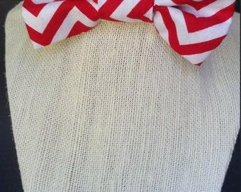 Children's Red Chevron bowtie