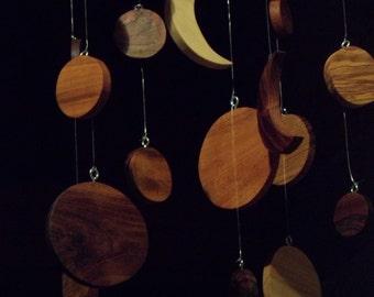 Items similar to seagulls mobile wooden art for beach for Mobili wooden art