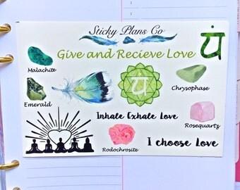 Chakra Balancing Stickers / Heart Chakra