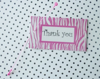 100 FASHION JEWELRY/ACCESSORIES Boutique Clothing Tags Pink Zebra Thank You with Self-Locking Plastic Loops at Etsy