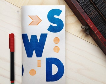 Quaderno Letterpress: BlueOnStardream /  BlueOnStardream Letterpress Notebook