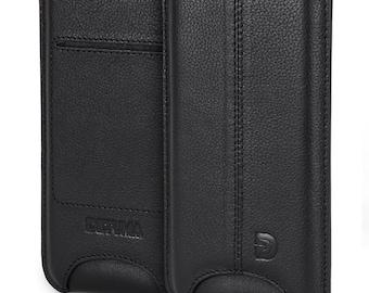 Apple iPhone 6s case, iPhone 6 sleeve leather, natural leather pouch case cover pouch leather case - DETUMA ® Talha vintage black