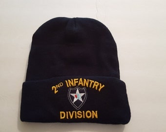 2nd INFANTRY DIVISION Beanie, Military Knit Hat, Military Accessories