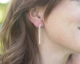 Sterling Silver Chandelier Slender Stix Earrings