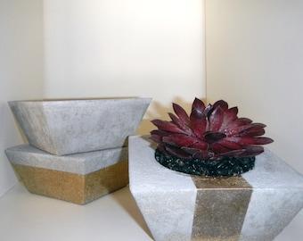 Square Tapered Concrete Planter