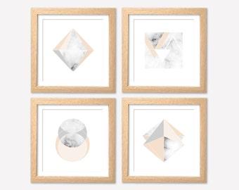 Set of Marble Prints