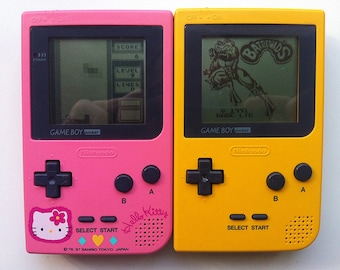 Nintendo Gameboy: Gameboy Pocket. Gameboy Pocket Yellow. Gameboy Hello Kitty Limited Edition.
