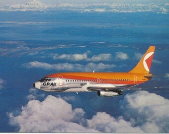CP Air Canadian Pacific Airlines Boeing 737 Aircraft Vintage POSTCARD