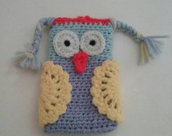 Free Shipping!! Crochet Owl Cell Phone case, Owl Cell Phone cozy, Crochet phone cozy, cell phone case, crochet phone case