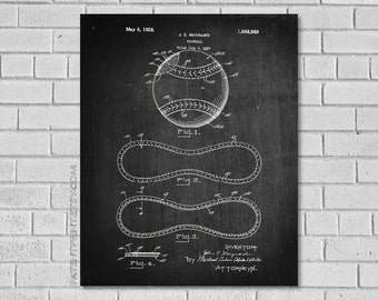 Baseball Patent Print - Baseball Decor - Baseball Wall Art - Baseball Poster - Baseball Decor - Historic Baseball picture - Baseball SB969