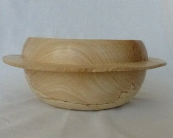 Hand turned spalted beech 'Saturn Bowl'