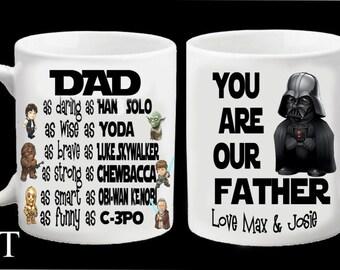 Personalised Star Wars Superhero Darth Vader Mug Father Dad Daddy Step Dad Grandad Fathers Day Christmas Birthday Gift Present