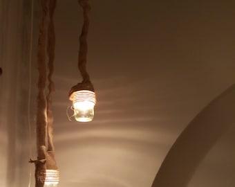 The glass-vases chandelier!