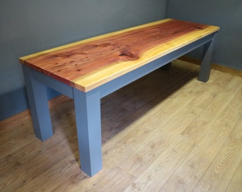 Retro, Vintage, Industrial Dining Table Made from Sequoia 8 - 10 seater