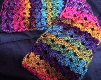 Lace shell stitch scarf