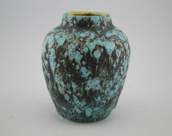 Scheurich 550-10 Matte Turquoise & Grey vase West-Germany