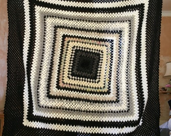 Black and White blanket/throw