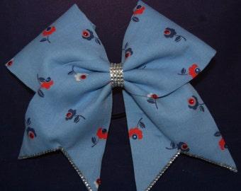Blue Garden Cheer Bow