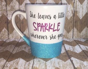Sparkle glitter mug