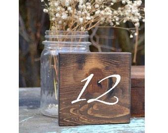 Set of 20 Rustic Wedding Table Numbers, Block Table Numbers, Rustic Wedding Decor, Spring Wedding, Summer Wedding, Wedding Tables