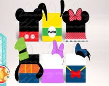 Print&Cut: MICKEY MOUSE Clubhouse BIRTHDAY boxes birthday party favors goody daisy Donald goofy