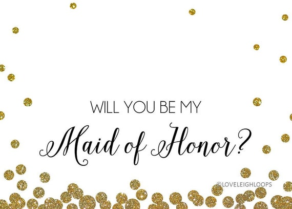 Tactueux image pertaining to will you be my maid of honor printable