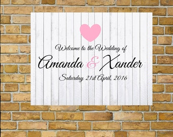 Welcome Sign, Wedding greeting, Engagement sign, Rustic Sign.