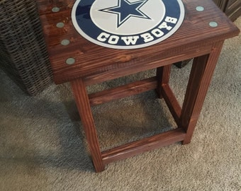 Custom Logo - Rustic End Table - Your logo, photo or I can design something for you